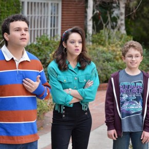 "THE GOLDBERGS - ""The Goldbergs"" stars Wendi McLendon-Covey (""Bridesmaids"") as Beverly Goldberg, Patton Oswalt (""Ratatouille"") as adult Adam Goldberg, Sean Giambrone as Adam Goldberg, Troy Gentile (""Good Luck Chuck"") as Barry Goldberg, Hayley Orrantia (""The X Factor"") as Erica Goldberg, with George Segal (""Don't Shoot Me"") as Pops Solomon and Jeff Garlin (""Curb Your Enthusiasm"") as Murray Goldberg. ""The Goldbergs"" was written and executive-produced by Adam F. Goldberg (""Breaking In,"" ""Fanboys"") and also executive-produced by Doug Robinson and Seth Gordon. The pilot was directed by Seth Gordon (""Identity Thief,"" ""Horrible Bosses""). ""The Goldbergs"" is from Adam Sandler's production company, Happy Madison, and is produced by Sony Pictures Television.  (ABC/Eric McCandless)"