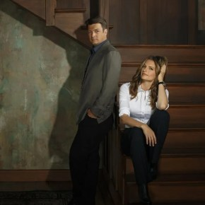 "CASTLE - ABC's ""Castle"" stars Nathan Fillion as Richard Castle and Stana Katic as NYPD Detective Kate Beckett. (ABC/Bob D'Amico)"