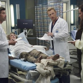 "GREY'S ANATOMY - ""Seal Our Fate"" - ""Grey's Anatomy"" returns for its monumental tenth season with a two-hour event, THURSDAY, SEPTEMBER 26 (9:00-11:00 p.m., ET) on the ABC Television Network. In the first hour, ""Seal Our Fate"" (9:00-10:00 p.m.), the Grey Sloan Memorial Hospital doctors are faced with the devastation left by the storm. A giant mudslide in Seattle injures a group of first responders and citizens, causing the already shorthanded ER to spring into action. Meanwhile, Meredith is faced with a tough decision that will affect the life of a loved one, Callie is rocked by the reality of Arizona's infidelity, and Richard's life is in extreme danger. (ABC/Richard Cartwright)"