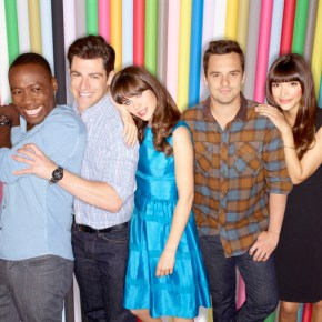 NEW GIRL:  Cast L-R:  Lamorne Morris, Max Greenfield, Zooey Deschanel, Jake Johnson and Hannah Simone.  The third season of NEW GIRL premieres Tuesday, Sept. 17 (9:00-9:30 PM ET/PT) on FOX.  ©2013 Fox Broadcasting Co. Cr:  Alexei Hay/FOX