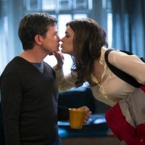 THE MICHAEL J. FOX SHOW -- Pilot -- Pictured: Michael J Fox, Betsy Brandt -- (Photo by: Eric Liebowitz/NBC)