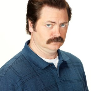 PARKS AND RECREATION -- Season: 5 -- Pictured: Nick Offerman as Ron Swanson -- (Photo by: Chris Haston/NBC)