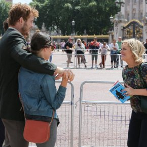 "PARKS AND RECREATION -- ""London"" Episode 601/602 -- Pictured: (l-r) Chris Pratt as Andy Dwyer, Aubrey Plaza as April Ludgate, Amy Poehler as Leslie Knope -- (Photo by: Tim Whitby/NBC)"