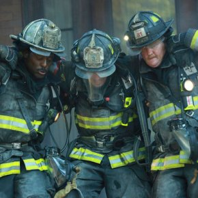 "CHICAGO FIRE -- ""A Problem House"" Episode 201 -- Pictured: (l-r) Eamonn Walker as Battalion Chief Wallace Boden, Taylor Kinney as Kelly Severide, Christian Stolte as Randy ""Mouch"" McHolland -- (Photo by: Elizabeth Morris/NBC)"