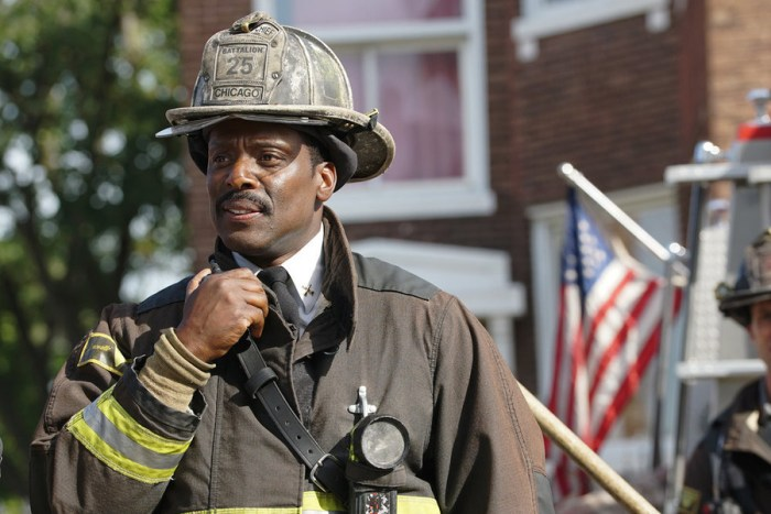 "CHICAGO FIRE--  ""2112"" Episode 406 -- Pictured: Eamonn Walker as Wallace Boden -- (Photo by: Elizabeth Morris/NBC)"
