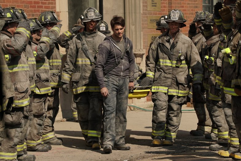 "CHICAGO FIRE -- ""Where the Collapse Started"" Episode 422 -- Pictured: Steven R. McQueen as Jimmy Borrelli -- (Photo by: Elizabeth Morris/NBC)"
