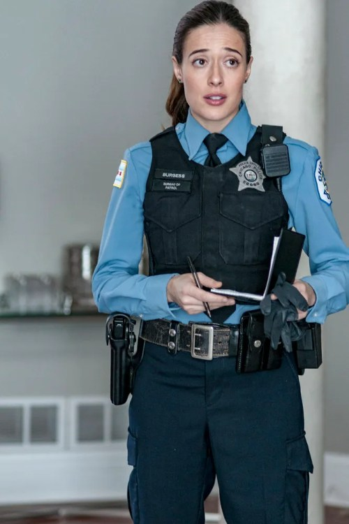 "CHICAGO P.D. -- ""Some Friend"" Episode 406 -- Pictured: Marina Squerciati as Kim Burgess -- (Photo by: Matt Dinerstein/NBC)"