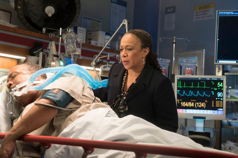 "CHICAGO MED -- ""Inherent Bias"" Episode 207 -- Pictured: S. Epatha Merkerson as Sharon Goodwin -- (Photo by: Elizabeth Sisson/NBC)"