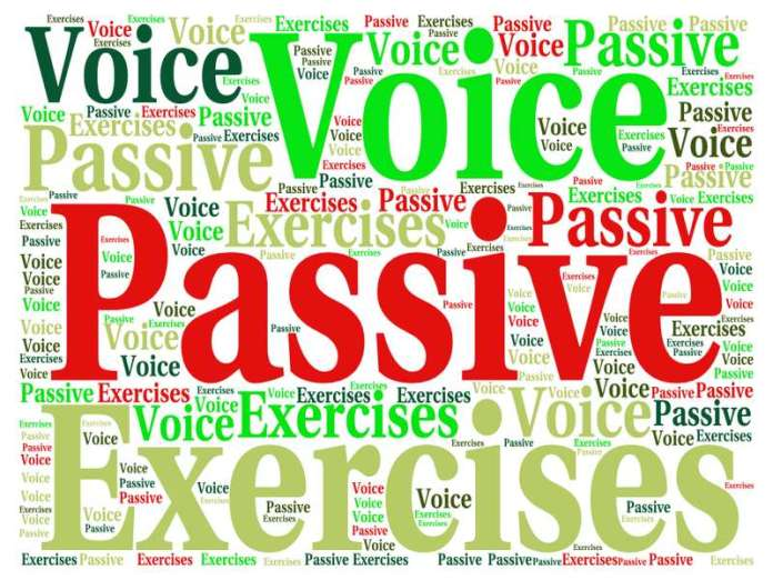 passive voice exercises