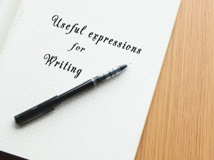 Useful expressions for writing