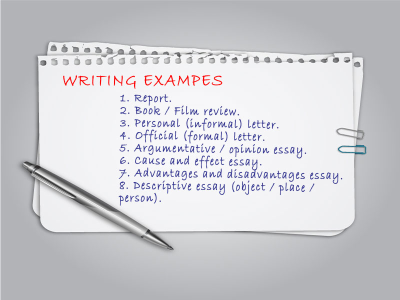 writing examples for national exam