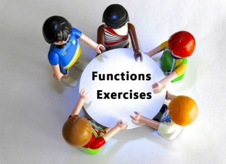 Exercises about Functions