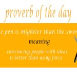 proverb of the day