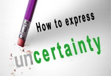 How to express certainty and Uncertainty
