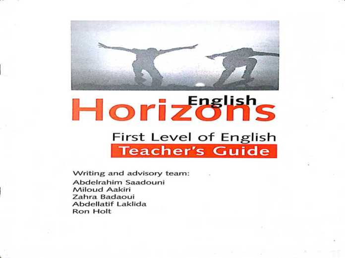 English Horizons teacher's book