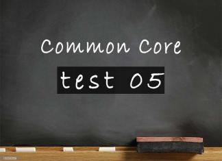 Common Core test 05