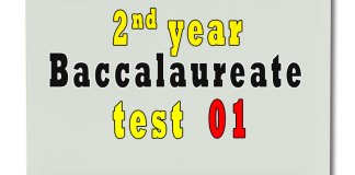 2nd Year Baccalaureate test 01