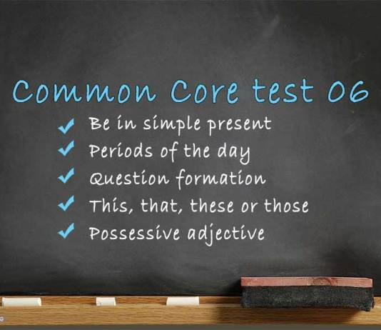Common Core test 06