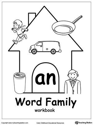 AN Word Family Workbook for Kindergarten