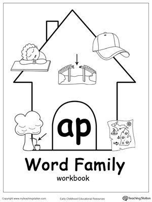 AP Word Family Workbook for Kindergarten