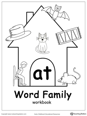 AT Word Family Workbook for Kindergarten