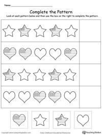 Kindergarten Patterns Printable Worksheets ...