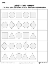 Preschool Patterns Printable Worksheets ...