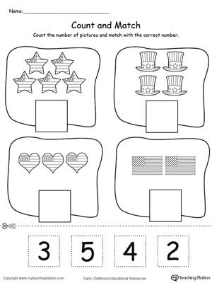Kindergarten Numbers Printable Worksheets