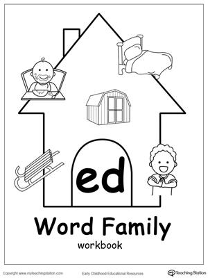 ED Word Family Workbook for Kindergarten
