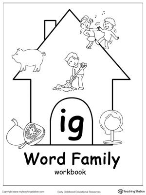 IG Word Family Workbook for Kindergarten