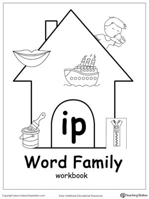 AG Word Family Workbook for Kindergarten