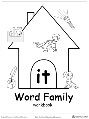 IT Word Family Workbook for Kindergarten