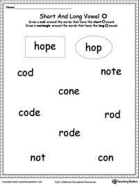 All Worksheets  Long O Worksheets - Printable Worksheets ...