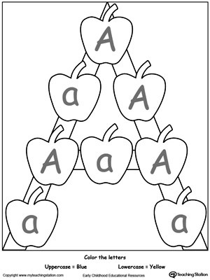 Recognize Uppercase and Lowercase Letter A