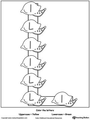 Letter L Alphabet Flash Cards for Preschoolers