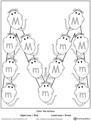 Recognize Uppercase and Lowercase Letter M