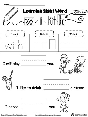 Build Sentences Using Sight Words: LIKE, AM, SEE, and YOU