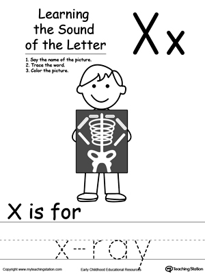 Learning Beginning Letter Sound X