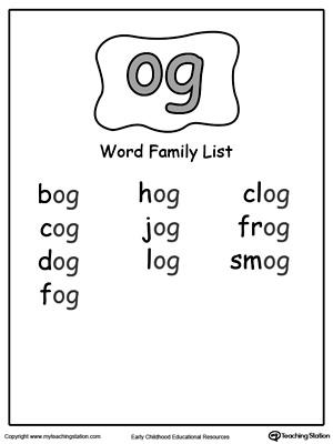 ED Word Family List