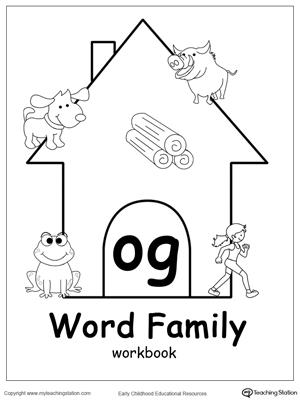 EN Word Family Workbook for Kindergarten