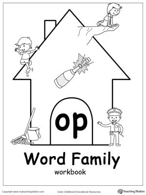 OP Word Family Workbook for Kindergarten