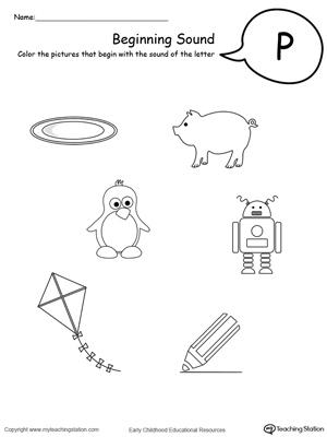 Preschool Worksheet P. Preschool. Best Free Printable