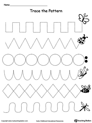 Fill Up the Sand Bucket by Tracing the Patterns