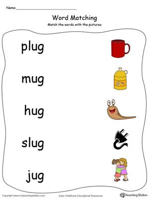 UG words,UG word families,UG word family,phonics,cvc words