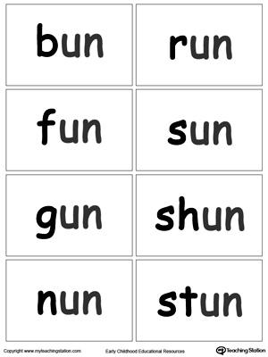 UN Word Family Workbook For Preschool