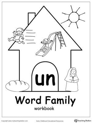 UN Word Family Workbook for Kindergarten