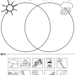 Easy Tree Diagram Worksheet Fisher Minute Mount 2 Wiring Venn Sunny And Rainy Day | Myteachingstation.com