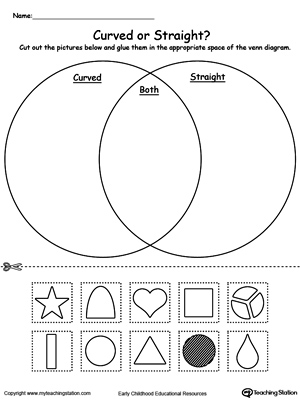 number venn diagram sorting numbers 2006 toyota corolla parts kindergarten shapes printable worksheets | myteachingstation.com