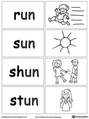 UN Word Family Workbook For Kindergarten