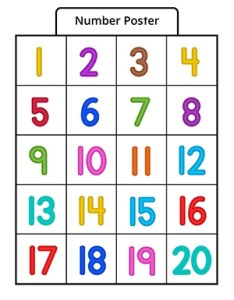 Number poster in color also myteachingstation rh